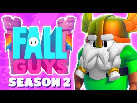 Fall Guys Season 2 New Maps Gameplay, NEW Skins, Full Season 2 Battle pass & First Season 2 Win