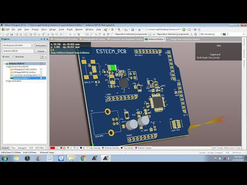 4 Layers PCB Designing in Altium : Layout Designing