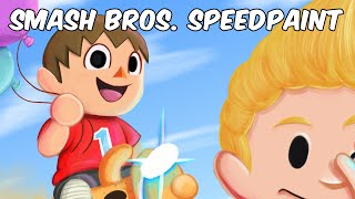 Villager and Lucas Speedpaint