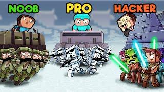 Rebels vs Empire vs Jedi - Star Wars! (Noob vs PRO vs Hacker)