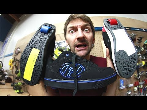 SKATING IN HEELYS SHOES!!!! | STUPID SKATE EP 117