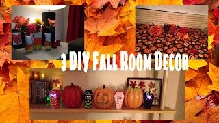 Fall / Halloween room decor + 3 DIY's cheap and easy howto