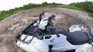 6. 30'' silver backs on 2017 honda foreman 500, mudding
