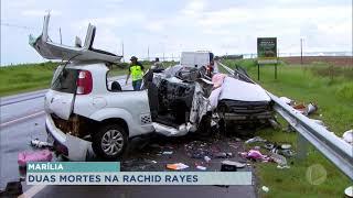 Colisão frontal mata duas pessoas na rodovia Rachid Rayes em Marília
