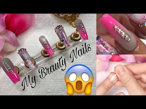 Uñas acrilicas - Como Hacer Tus Propias Press On Nails (poner y quitar uñas acrílicas)