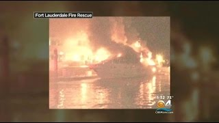 An investigation is underway after a fire severely damaged a yacht moored at Ft. Lauderdale's Bahia Mar Marina.