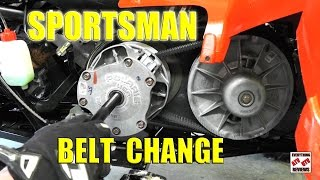10. How to change Drive Belt Polaris Sportsman 800
