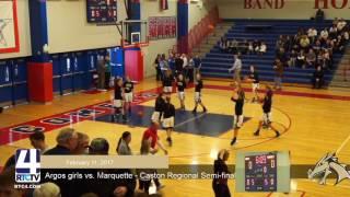 Argos Girls Basketball vs Marquette Cath - Reg Semi