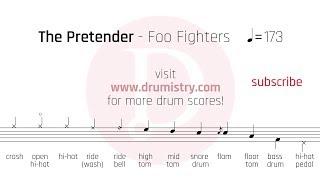 Foo Fighters - The Pretender Drum Score