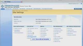 SharePoint 2007 Tutorial - How To Create a SharePoint Site Template