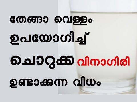തേങ്ങാ വെള്ളം ഉപയോഗിച്ച് വിനാഗിരി  ഉണ്ടാക്കുന്ന വിധം  How to Make Vinegar from Coconut Water