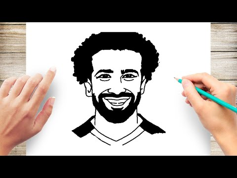 How To Draw Mohamed Salah From Liverpool Step By Step
