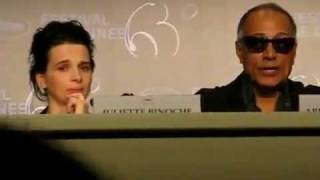 French Actress Juliette Binoche In Tears Over Iranian Filmmaker Jafar Panahi P2 May 18, 2010