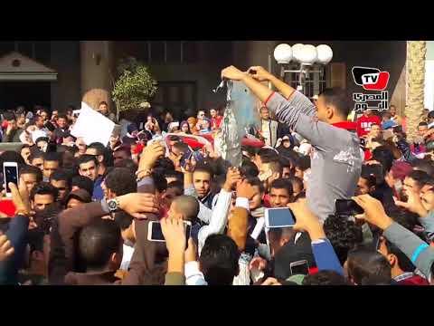 مظاهرات حاشدة وحرق علم إسرائيل بـ«بني سويف» تنديدا بقرار ترامب