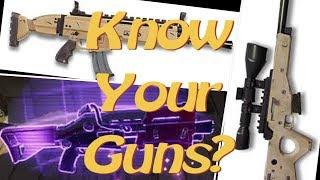 Fortnite Guess that Gun Sound Challenge! |All Guns|