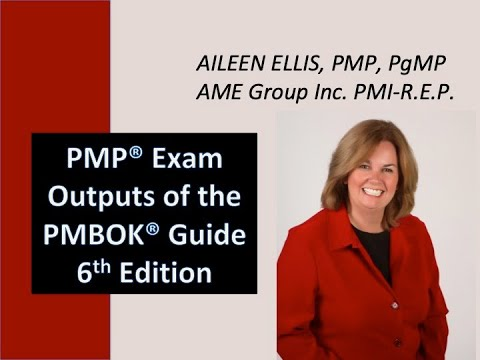 How to memorize the Outputs of the PMBOK Guide 6th Edition for the PMP Exam... with Aileen