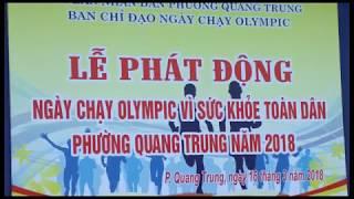 Phường Quang Trung phát động Ngày chạy Olympic vì sức khỏe toàn dân năm 2018
