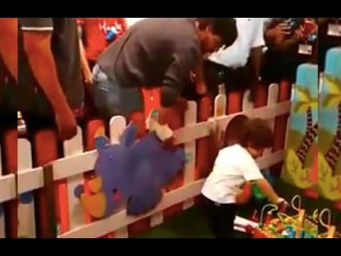 Shah Rukh Khan And AbRam Playing At A Toy Store
