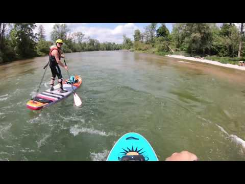 SUP Tour Isar Oberföhring bis Mintraching