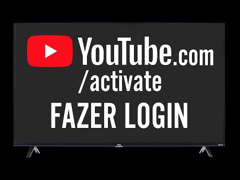 YouTube.com/activate Fazer Login Smart TV