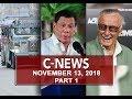 News (November 13, 2018) PART 1