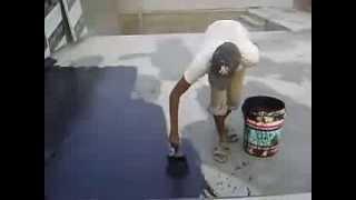 Waterproofing Flat Concrete Roof using Liquid Applied Waterproof coating