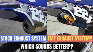 9. 2018 Yamaha YZ250F Stock Exhaust System vs. FMF Factory 4.1 Full Exhaust System