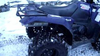 10. 2010 suzuki kingquad 400 asi fuel injected cold start & info