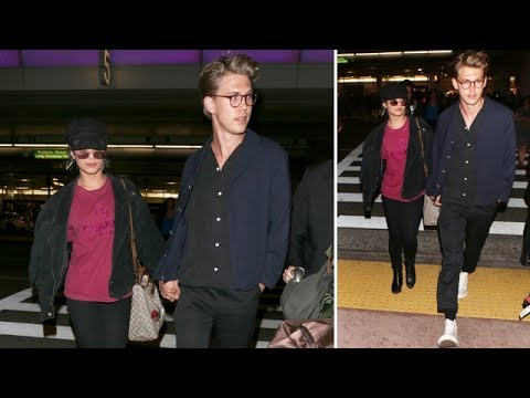 Cute Couple Vanessa Hudgens And Austin Butler Holding Hands At LAX
