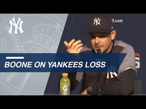 Video: Boone on Yanks' late rally, Sabathia's start in Game 4 loss