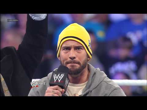 WWE Champion CM Punk - Ryback interrupts one of CM Punk's infamous pipebombs to inform the WWE Champion that they will compete in a TLC Match for the WWE Title on the first Raw of ...