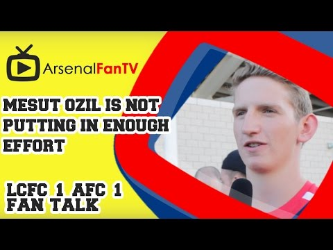 enough - Mesut Ozil is not putting in Enough Effort - Leicester City 1 Arsenal 1 AFTV APP: IPHONE : http://goo.gl/1TNrv0 AFTV APP: ANDROID: http://goo.gl/uV0jFB AFTV ONLINE SHOP : http://tiny.cc/el3rrw...