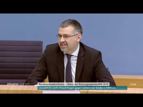 Bundespressekonferenz: Vorstellung des Rüstungsexport ...