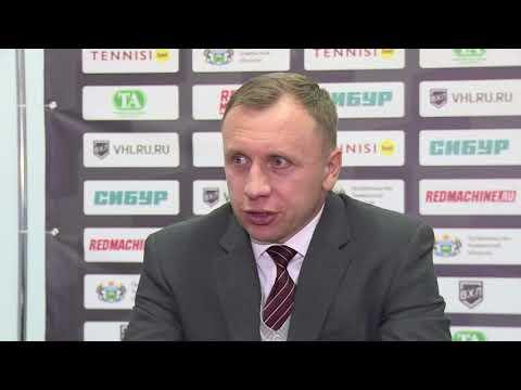 Главный тренер ХК «Рубин» Михаил Звягин после матча с «Сарыаркой» (4:2)