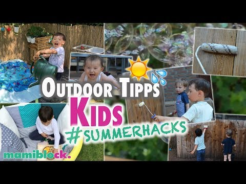 7 Outdoor Ideen für Kinder 🌴☀️| Summer Hacks | mamiblock