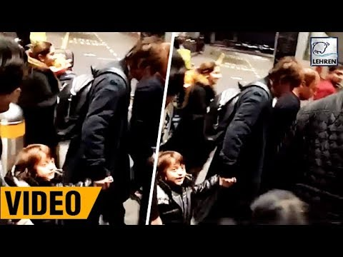 Shah Rukh And AbRam Cutely Walk On London Roads