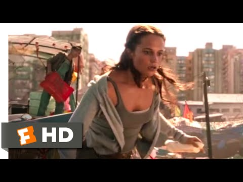 Tomb Raider (2018) - Fighting Thieves Scene (1/10) | Movieclips