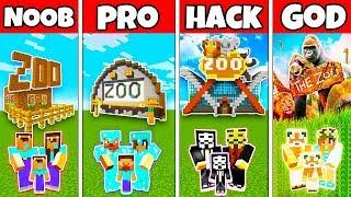 Video Minecraft: FAMILY ANIMAL ZOO BUILD CHALLENGE - NOOB vs PRO vs HACKER vs GOD in Minecraft Animation MP3, 3GP, MP4, WEBM, AVI, FLV Juni 2019