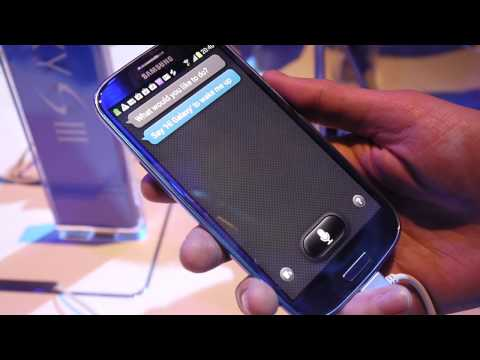 Samsung Galaxy S III: S Voice feature demo
