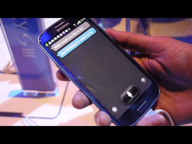 Galaxy S III: S Voice demo