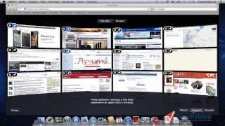 Внешний вид браузера Safari в Mac OS Lion