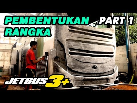 MODIFIKASI BUS LAWAS JADI JETBUS3+ KALINGGA JAYA | PART1