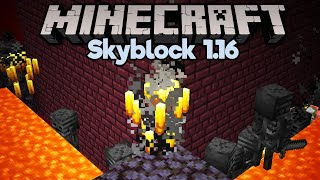 Nether Fortress Mob Farm! • Minecraft 1.16 Skyblock (Tutorial Let's Play) [Part 25]