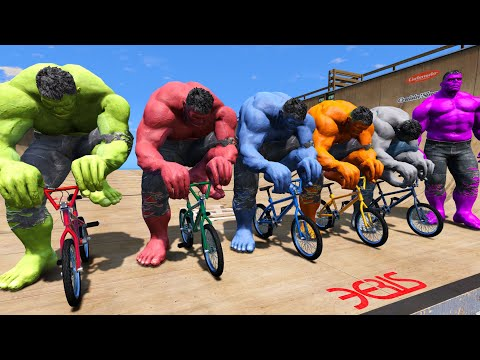 TEAM HULK Super Bicycles Competition Challenge #4 (Funny Contest) - GTA V Mods