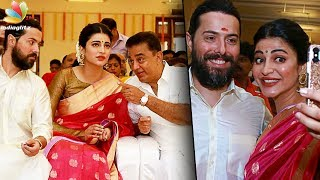 Video British boyfriend in Veshti for Kamal! | Shruti Hassan, Michael Corsale at Aadhav Wedding MP3, 3GP, MP4, WEBM, AVI, FLV Desember 2017