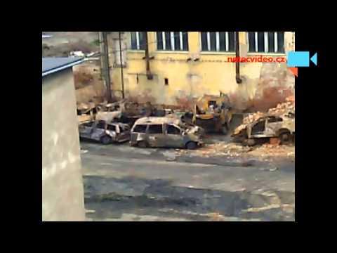 Škoda po požáru pily Křižan