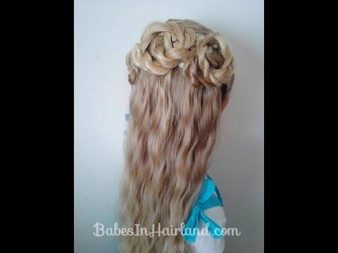 Triple Twisted Half Updo | Long Hair Wedding, Prom Hairstyles