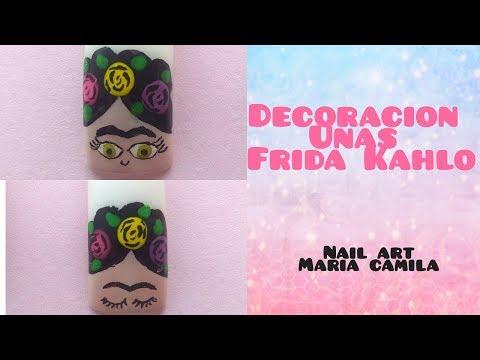 Decorados de uñas - DECORACIÓN FRIDA KAHLO - NAIL ART