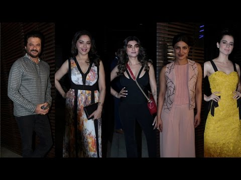 Anil Kapoor | Madhuri Dixit| Kangana At Priyanka Chopra Grand Party For Success Of Ventilator