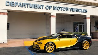 Video 17 Year Old takes DMV Driver's Test in Bugatti Chiron MP3, 3GP, MP4, WEBM, AVI, FLV Februari 2019